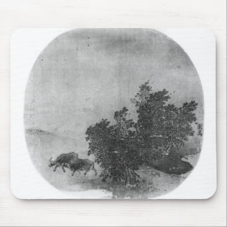 Landscape with water buffalo, Song Dynasty Mouse Pad