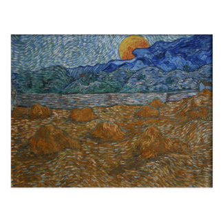 Landscape with Wheat Sheaves and Rising Moon Postcard