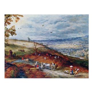 Landscape With Windmill By Bruegel D. Ä. Jan (Best Postcard