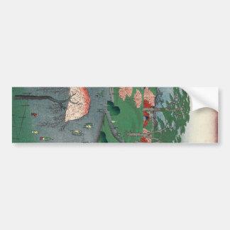 Landscaped garden of Higure village temple Bumper Sticker