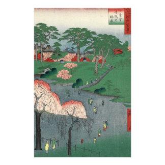 Landscaped garden of Higure village temple Stationery