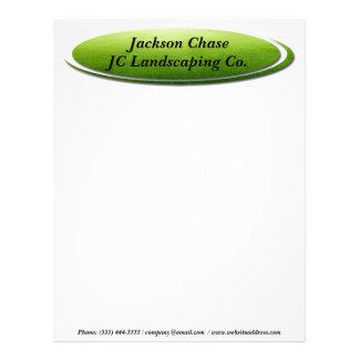 Landscaper Green Grass Oval Letterhead