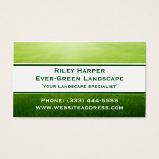 Landscaper Lawn with Banner Business Card