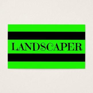 Landscaper Neon Green Business Card