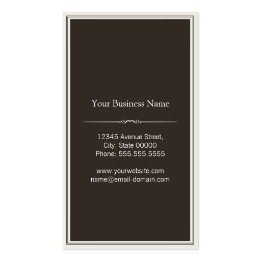 Landscaper - Stylish Wood Texture Business Card Template (back side)