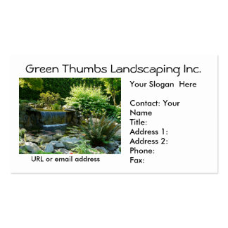 Landscapers and Gardeners Business Card Template