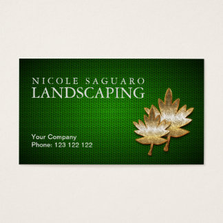 Landscapers Gardeners Business Card