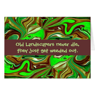 landscapers humor card