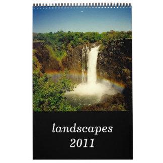 landscapes 2011 single page calendar