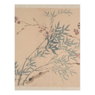 Landscapes and Flowers - Chinese (Qing Dynasty) Postcard