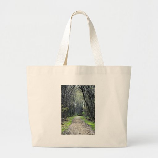 Landscapes and Lighthouses - A Path Less Traveled Jumbo Tote Bag