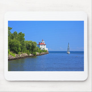 Landscapes and Lighthouses - Sailing into the Blue Mouse Pad
