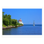 Landscapes and Lighthouses - Sailing into the Blue Postcard