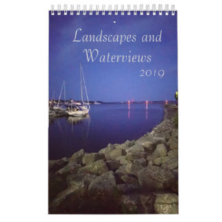 Landscapes and Water views Calendar