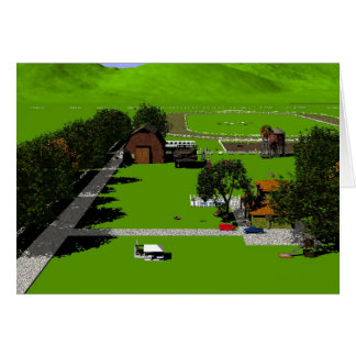 Landscapes - Farm Scenes, virtual imagery Card