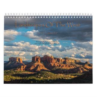 Landscapes of the West 2013 Calendar