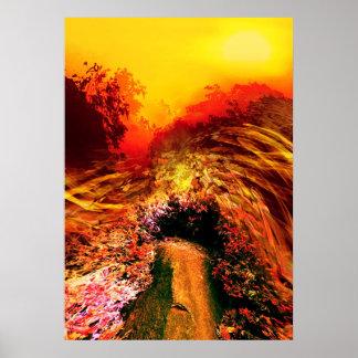 Landscapes Wave/New Planet/Suntime Poster