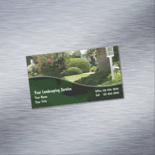Landscaping business cards templates zazzle landscaping business card magnets colourmoves