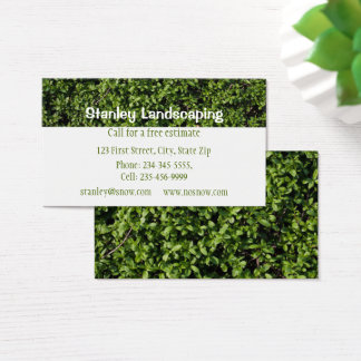 Landscaping Custom Business Business Card
