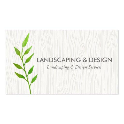 Landscaping u0026 Design Modern Business Card : Zazzle