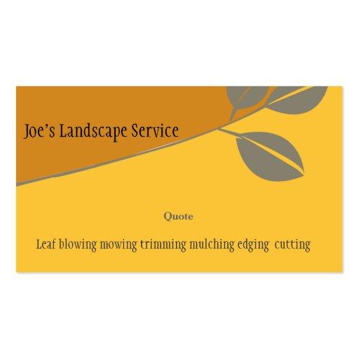 Landscaping Elegant Golden Business Card Template