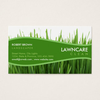 Landscaping Gardener Grass Clean Nature Business Card