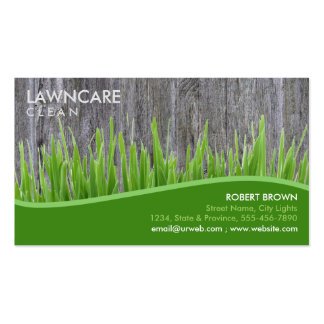 Landscaping Gardener Grass Wood Clean Nature Business Card