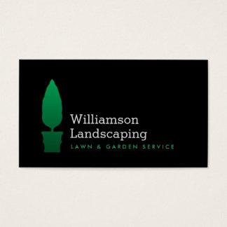 landscaping gardening green topiary logo ii business card