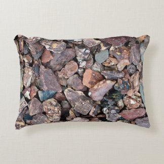 Landscaping Lava Rock Rubble and Stones Accent Pillow