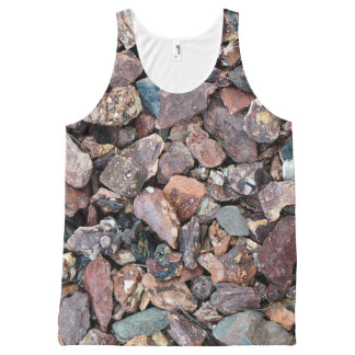 Landscaping Lava Rock Rubble and Stones All-Over Print Tank Top