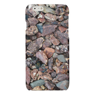 Landscaping Lava Rock Rubble and Stones Glossy iPhone 6 Case