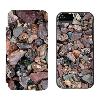 Landscaping Lava Rock Rubble and Stones iPhone SE/5/5s Wallet Case