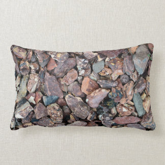 Landscaping Lava Rock Rubble and Stones Lumbar Pillow