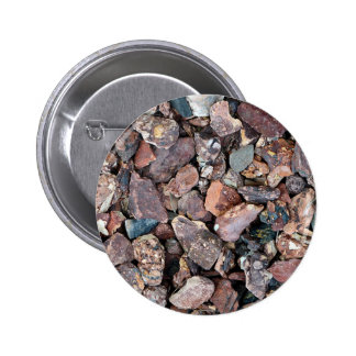 Landscaping Lava Rock Rubble and Stones Pinback Button