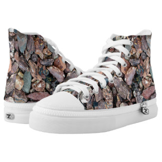 Landscaping Lava Rock Rubble and Stones Printed Shoes