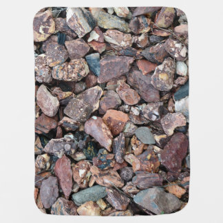 Landscaping Lava Rock Rubble and Stones Stroller Blanket