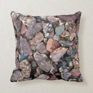 Landscaping Lava Rock Rubble and Stones Throw Pillow