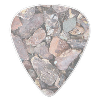 Landscaping Lava Rock Rubble and Stones White Delrin Guitar Pick
