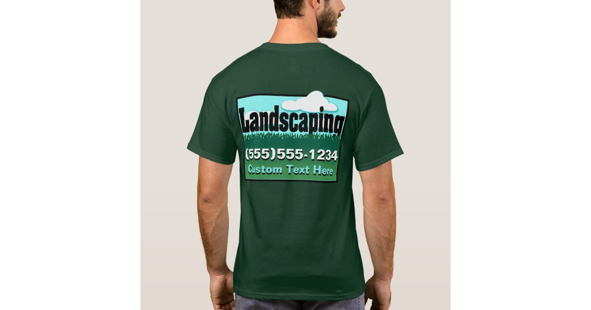 Landscaping lawn care advertise business back t shirt for T shirt advertising business