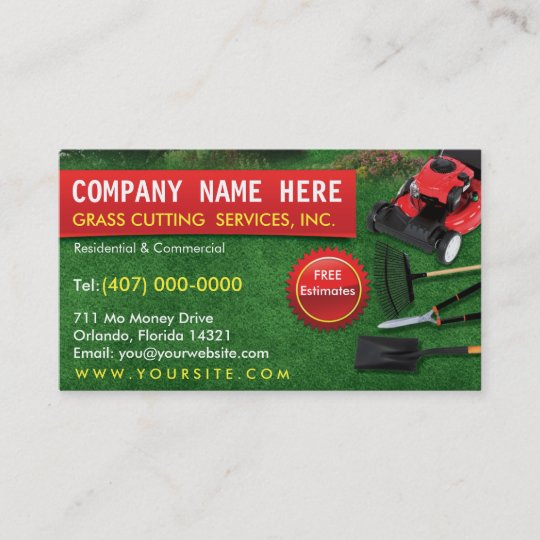 Landscaping lawn care mower business card template zazzle landscaping lawn care mower business card template friedricerecipe Images