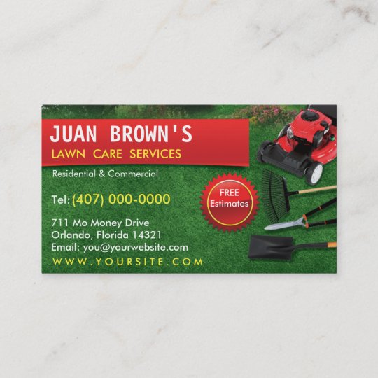 Landscaping lawn care mower business card template zazzle landscaping lawn care mower business card template cheaphphosting Image collections