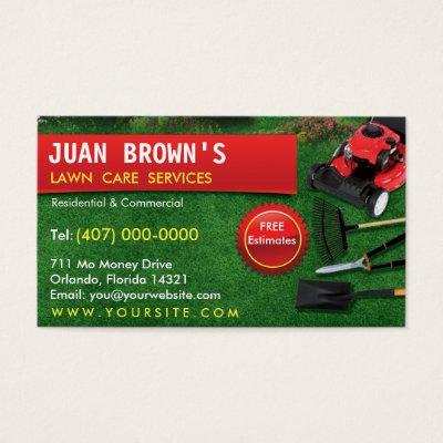 Yard lawn care gardening landscaping green grass business card yard lawn care gardening landscaping green grass business card zazzle fbccfo Gallery