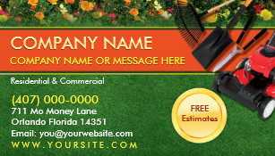 Landscaping business cards zazzle landscaping lawn care mower business card template wajeb Choice Image