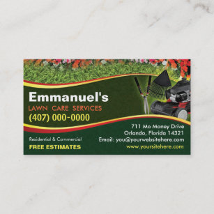 Landscape business cards zazzle landscaping lawn care mower business card template wajeb Choice Image