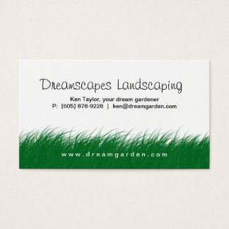 Landscaping Lawn Care Wild Grass Business Card 3