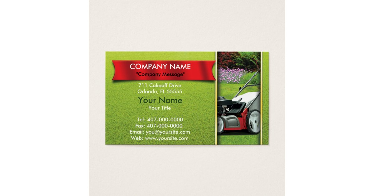 Yard Work Business Cards & Templates | Zazzle