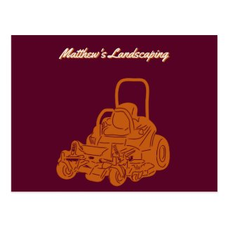 Landscaping Lawn Mowing Business Promotional Postcard