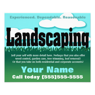Landscaping. Lawn service. Customizable Flyers