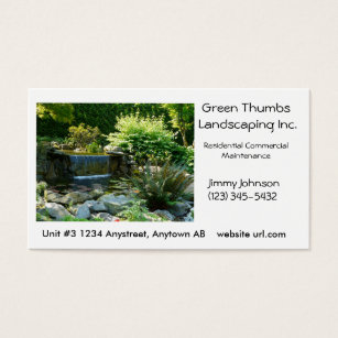 Waterfall garden business cards templates zazzle landscaping or gardening business card template accmission Image collections