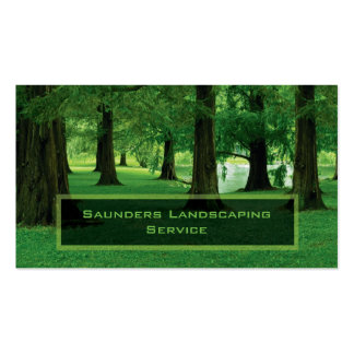 Landscaping or Lawn Care Service Company Double-Sided Standard Business Cards (Pack Of 100)